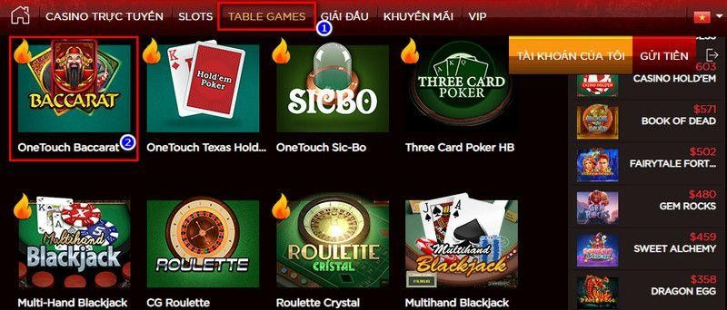 Different Table Games